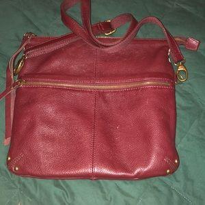 Leather lucky brand cross body Burgundy